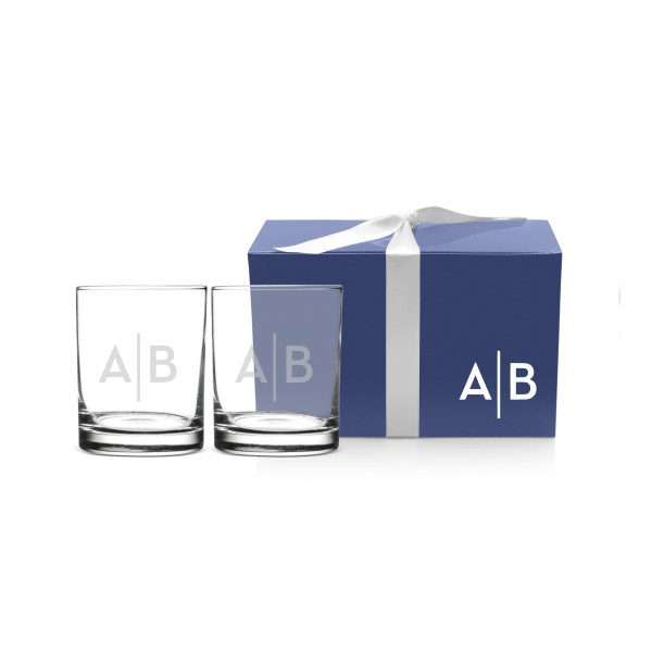 personalized Double Old Fashioned glass set