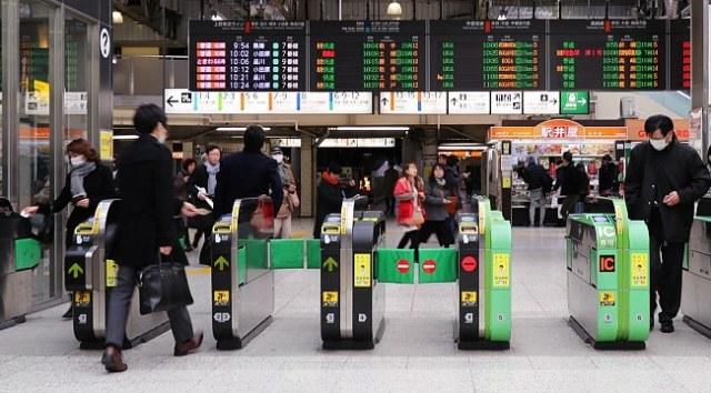 Cổng soát vé - Caschd di tàu điện ở Nhật