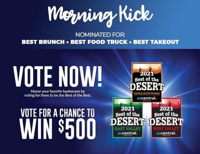 Vote for Morning Kick Best Brunch in Arizona 2021 JPG