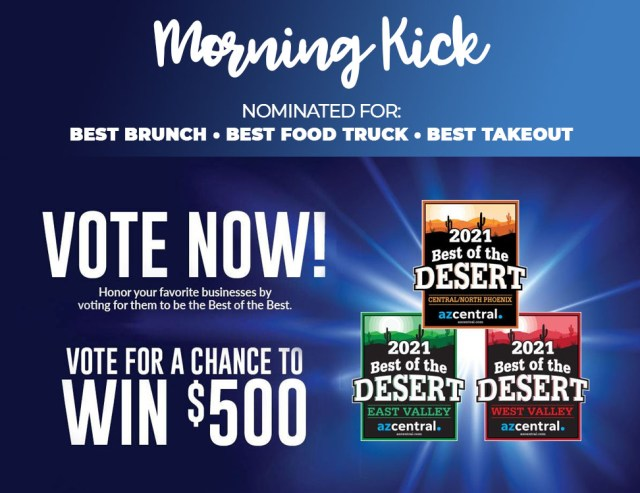 Vote for Morning Kick Best Brunch in Arizona 2021 JPG