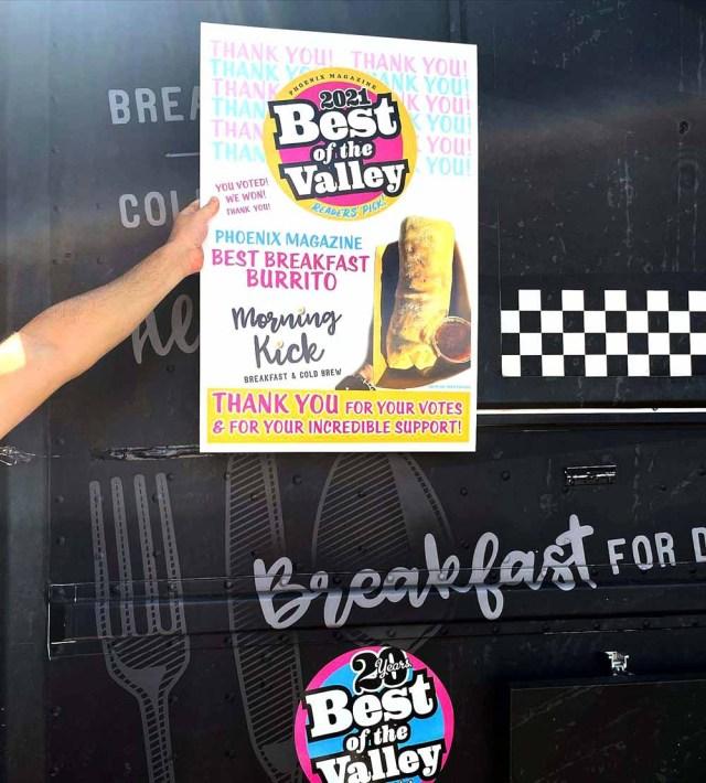 Best Breakfast Burrito in Gilbert Arizona - Morning Kick Brunch Restaurant