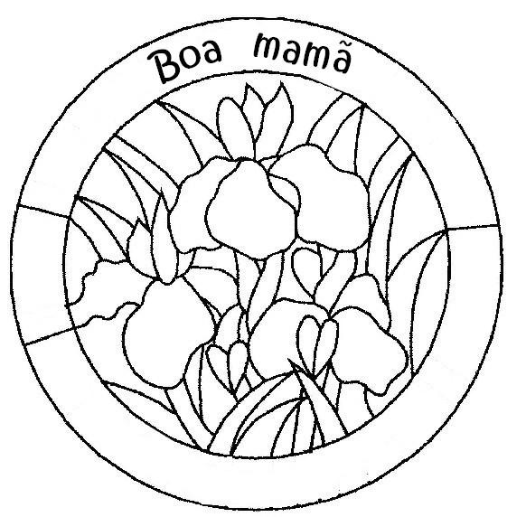 Desenho para colorir Dia da Mae 1