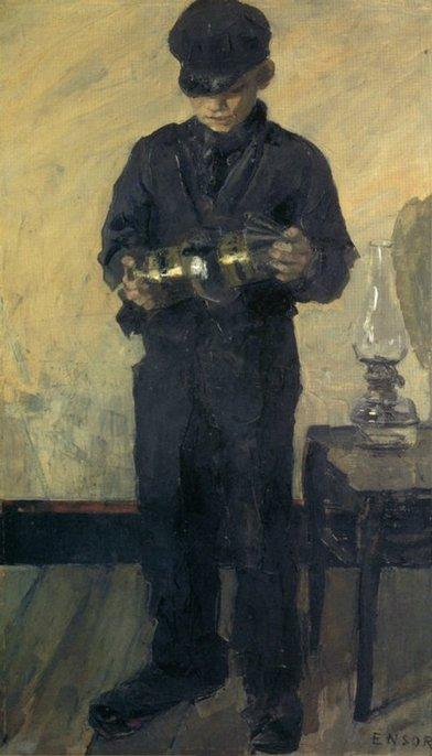James Ensor, Le lampiste, 1880