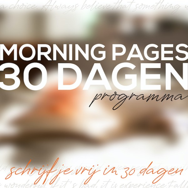 Morning Pages 30 dagen programma