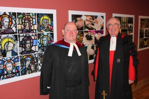 The Right Revd Dr Angus Morrison, Moderator of the General Assembly and the Revd Dr Derek Browning