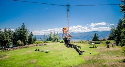 Boys camp zipline