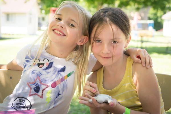 Girls camp craft
