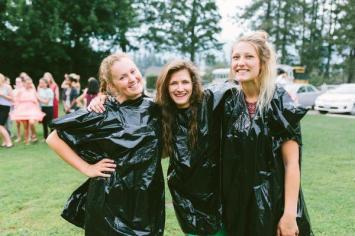 Girls garbage bags