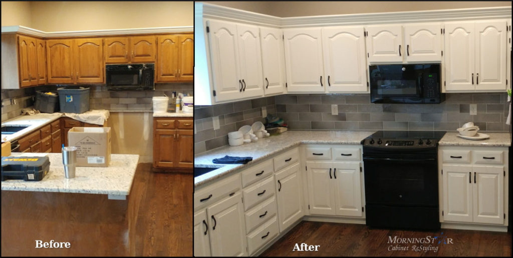 kitchen cabinet resurfacing large pantry refinishing before and after
