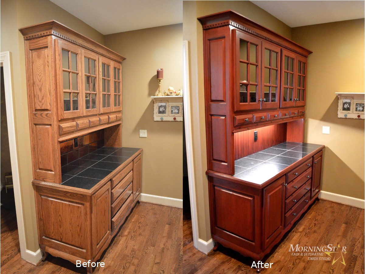 Cabinet Refinishing Before And After