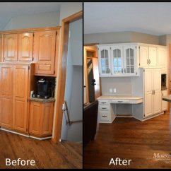 Diy Refinish Kitchen Cabinets Home Depot Tiles Cabinet Refinishing Before And After