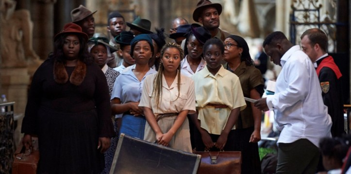 Performers from The Hebe Foundation charity during at the service of thanksgiving at Westminster Abbey, London to mark the 70th anniversary when about 500 Caribbeans stepped off the Empire Windrush in Tilbury Docks