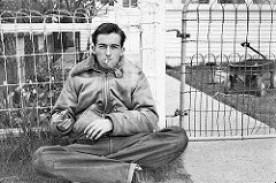 Vintage photo of man smoking cigarette