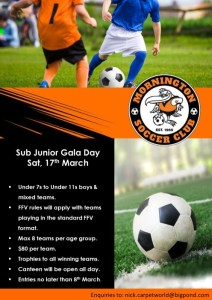 Sub-Junior Gala Day @ Dallas Brooks Park