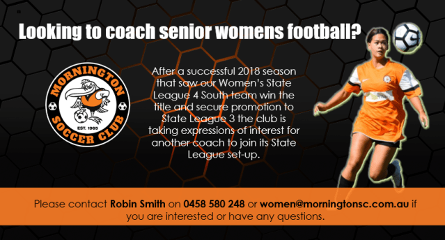 Are you interested in coaching senior Women's football?