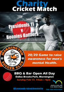 Charity 20/20 Cricket Match @ Dallas Brooks Park