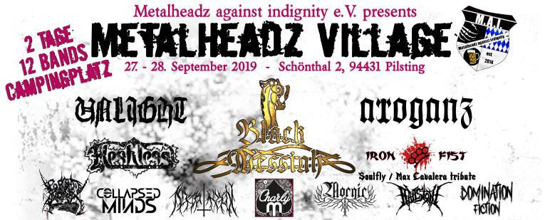 Flyer Metalheadsz Village 2019