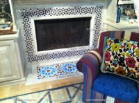 Moroccan Cement Tile Fireplace | Moroccan Tiles Los Angeles