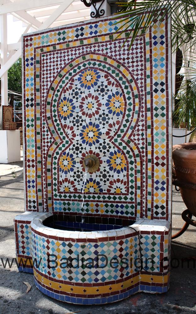 garden fountain  Moroccan Tiles Los Angeles