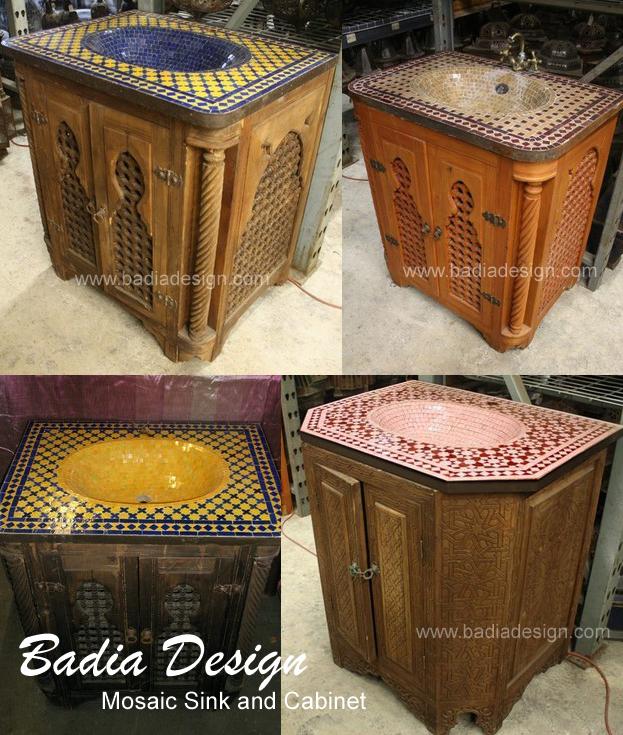 mosaic sinks and vanity