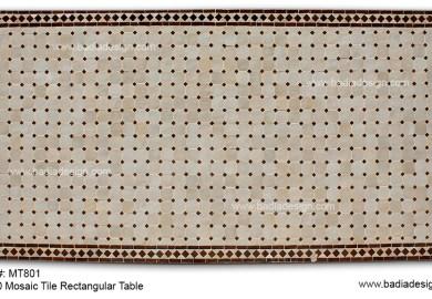 Mosaic Rectangular Table Top