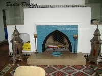 fireplace | Moroccan Tiles Los Angeles