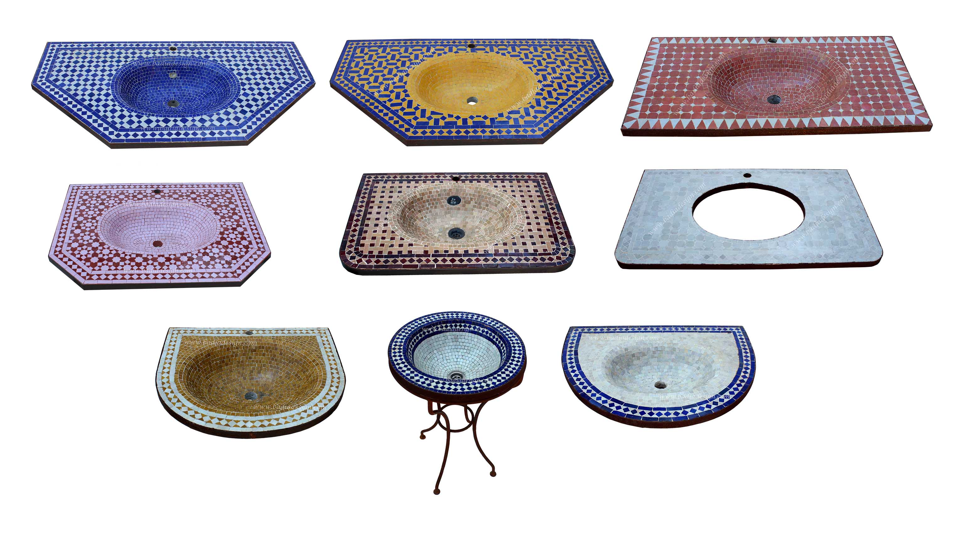 mosaic sink moroccan tiles