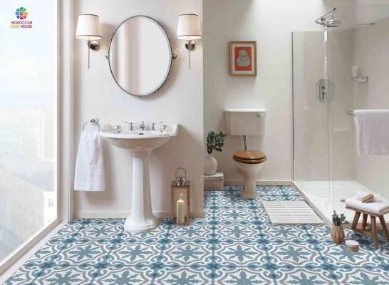 Moroccan tiles | Stylish bathroom with eco-friendly tiles