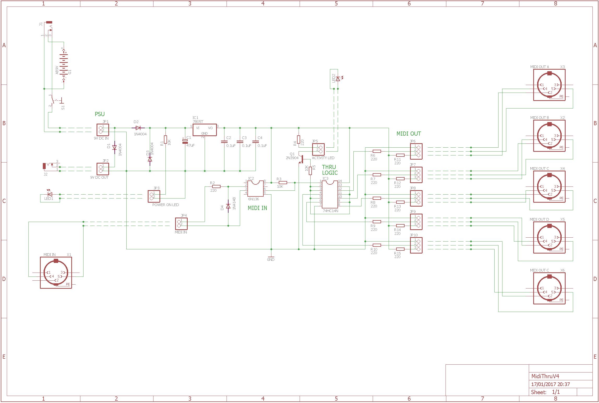 DIY: MIDI Thru Box