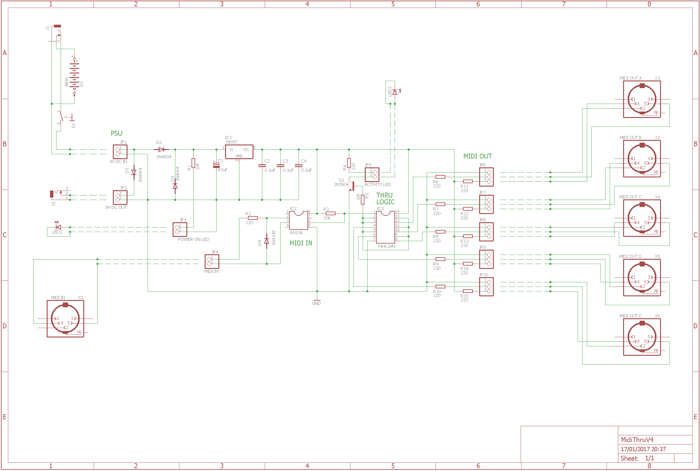 the midi thru box schematic