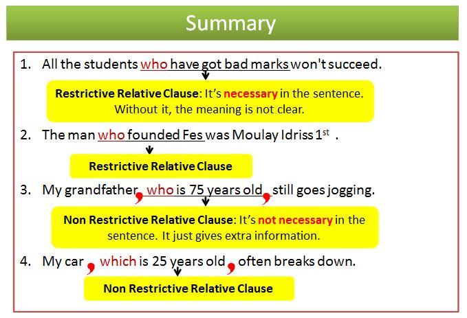 Restrictive Vs Non Restrictive Clauses Make It Simple