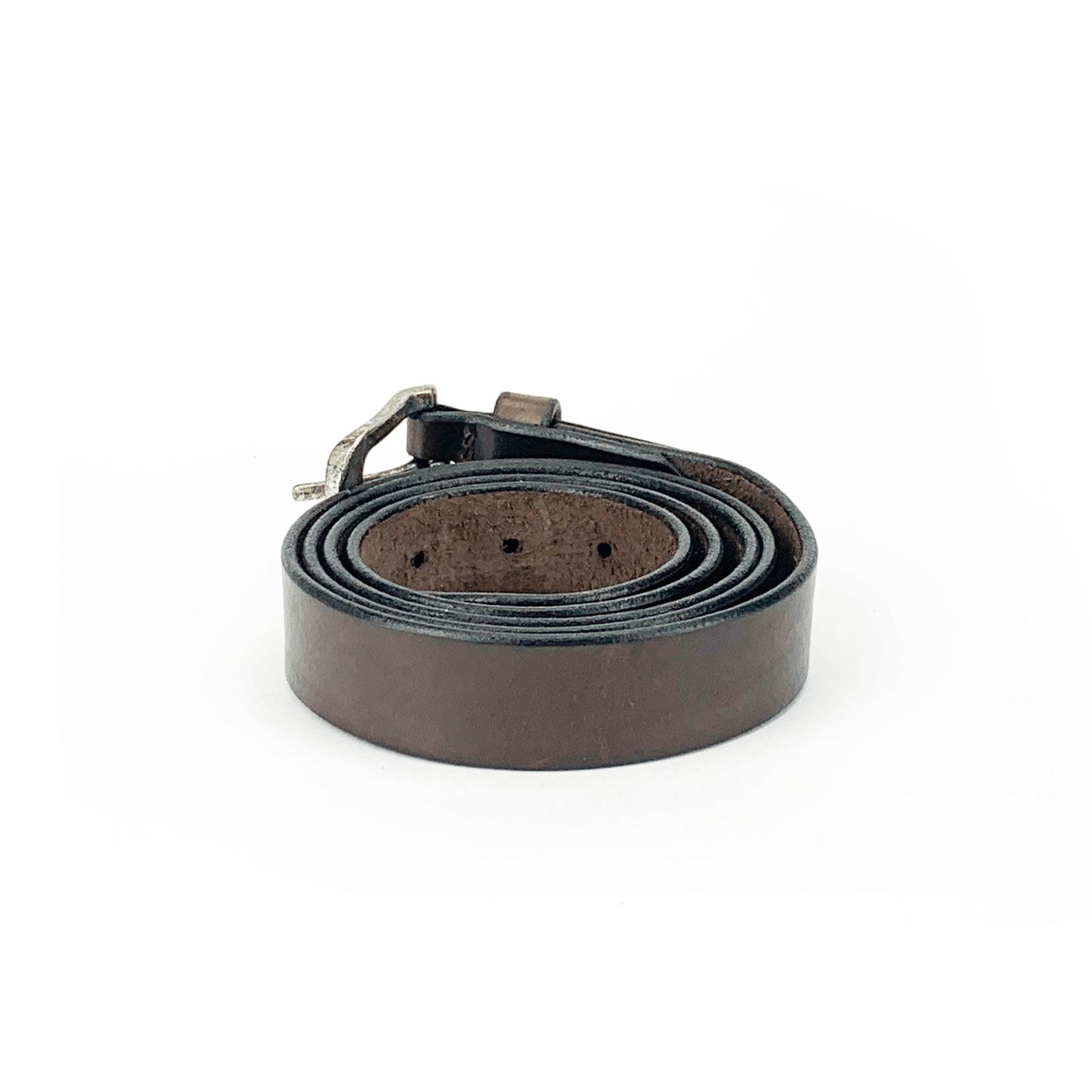 Cintura in cuoio di toro realizzata totalmente a mano testa di moro