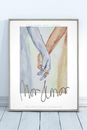 morogmor Unik plakat kunst upcoming designer miljøvenlig kunst