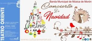 MÚSICA. Concierto de Navidad, Banda Municipal de Música de Morón. 21 de diciembre. Teatro Oriente @ Teatro Oriente