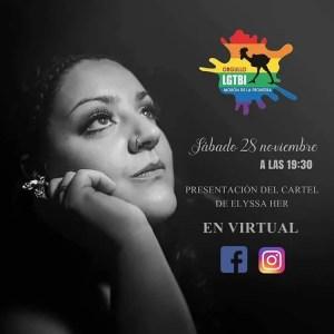 SOCIEDAD. Presentación del cartel de Elyssa Her. Orgullo LGTBI Morón. 28 de noviembre @ On line