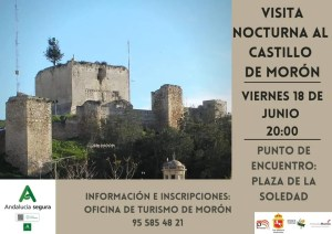 TURISMO. Visita nocturna al Castillo de Morón. 18 de junio @ Espacio Santa Clara
