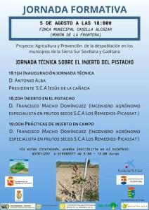SOCIEDAD. Jornada técnica sobre el injerto del pistacho en Morón de la Frontera. 5 de agosto. Casilla Alcázar @ Casilla Alcázar