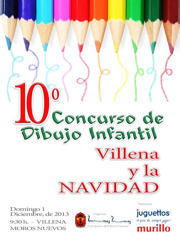 X Concurso de Dibujo Infantil «Villena y La Navidad»