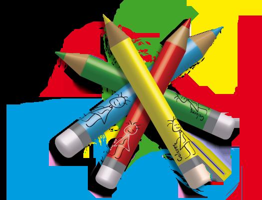 Resultado de imagen de dibujo lapices colores png