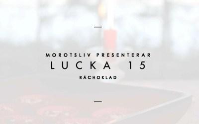 Lucka 15 – Råchoklad