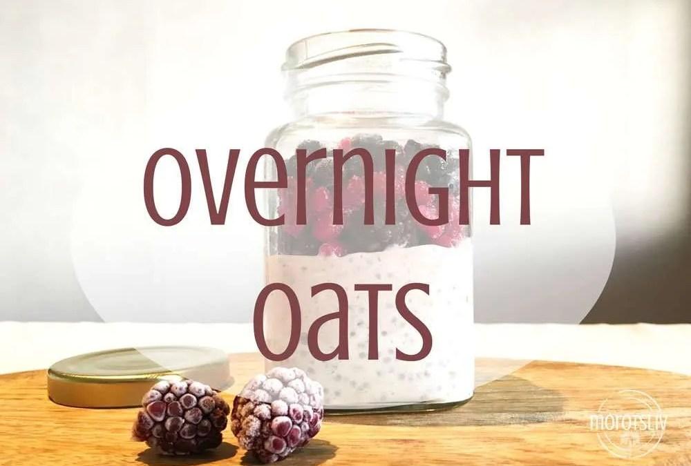 Overnight oats med lingon