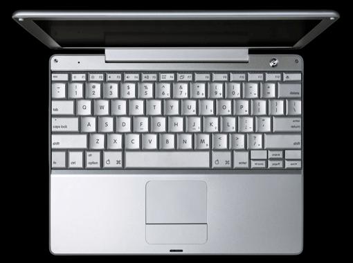 PowerBook 12 top view