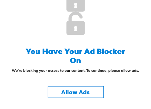 Allow ads. Not.