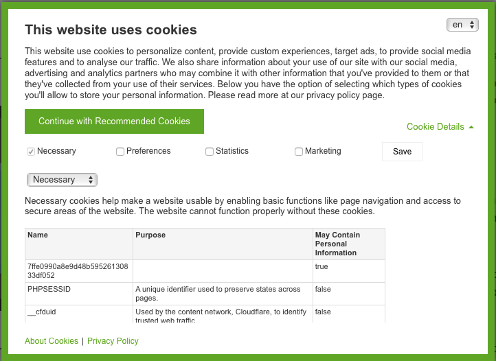 Image result for over complicated cookie popup