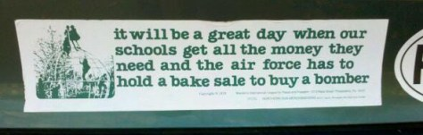 Bumper Sticker Bake Sale