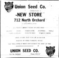 Idaho State Historical Society - Ad Union Seed Company Boise Journal May 11, 1951 p.5