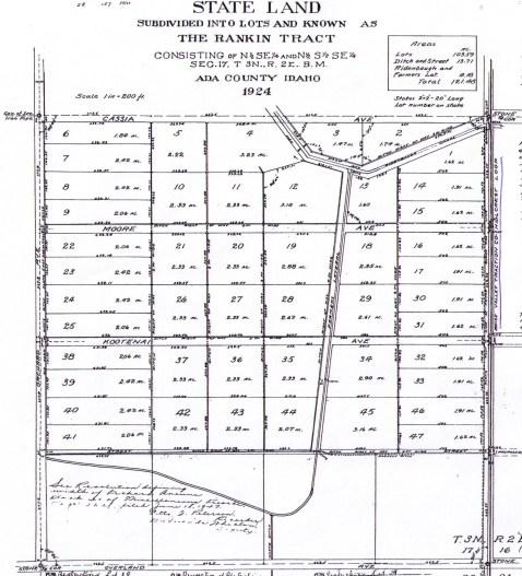 Ada County Assessor, Boise Map 1924