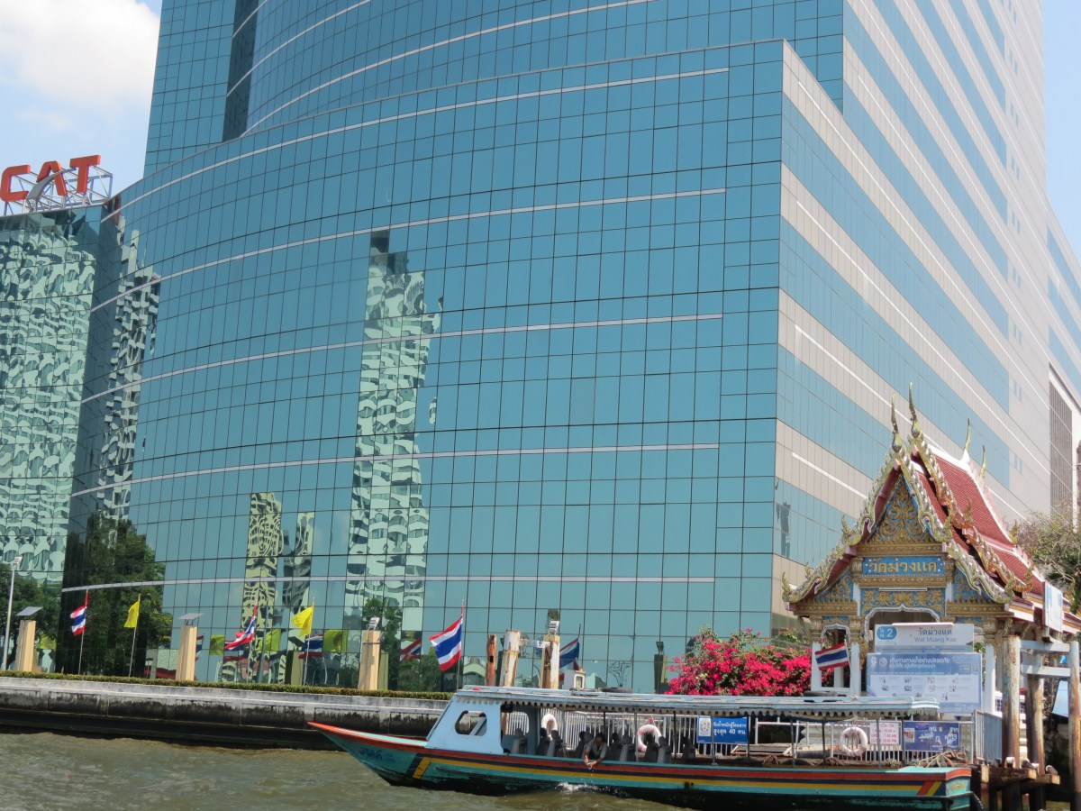 Reflections on the CAT Telecom Tower, Bangkok