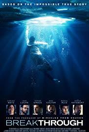 Breakthrough movie poster - child in water under ice