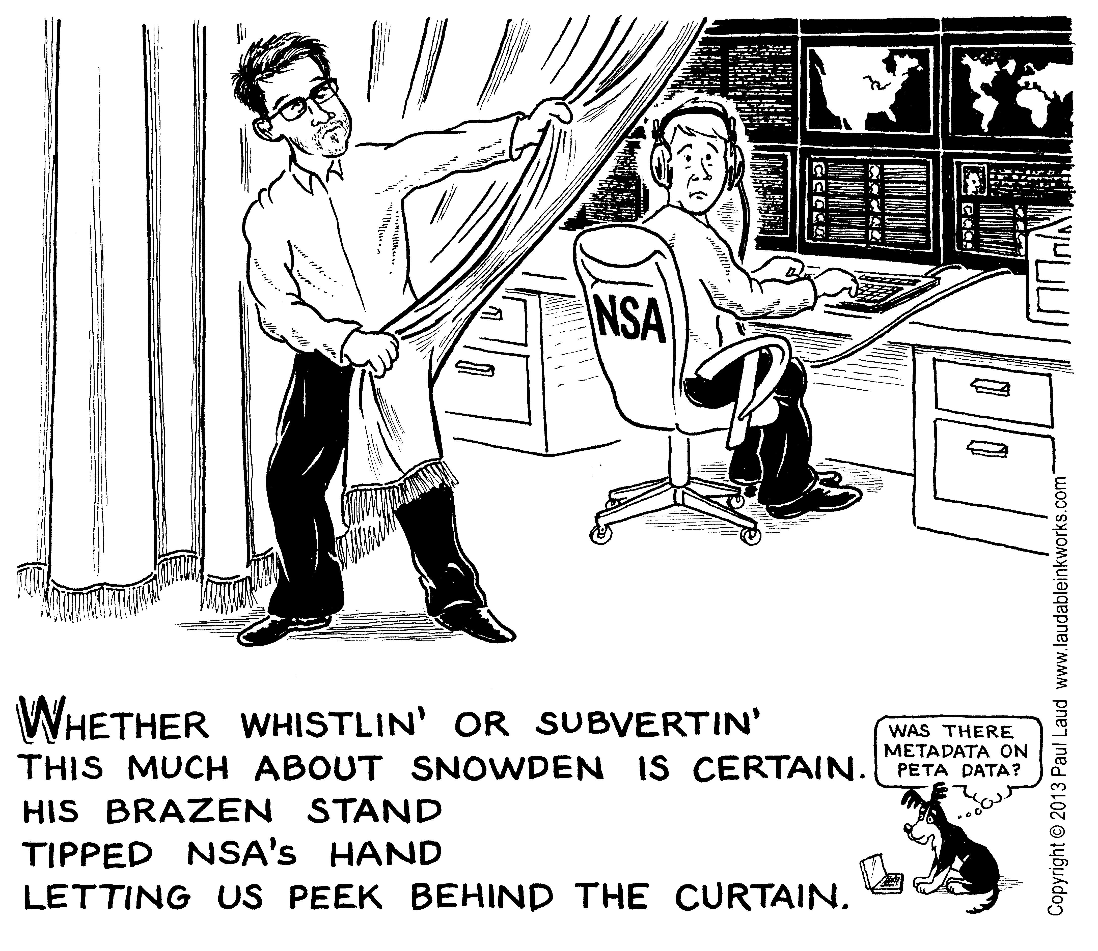 Peeking Behind The Nsa Curtain With Morristown Cartoonist